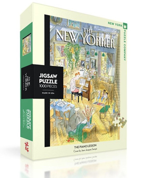 New York Puzzle Company 1000 Piece Jigsaw Puzzle :  The Piano Lesson