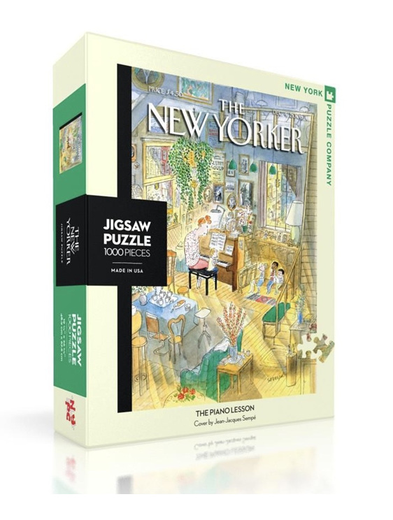 New York Puzzle Company 1000 pce puzzle  Piano Lesson buy at www.puzzlesnz.co.nz