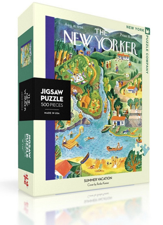 New York Puzzle Company 500 Piece Jigsaw Puzzle :  Summer Vacation