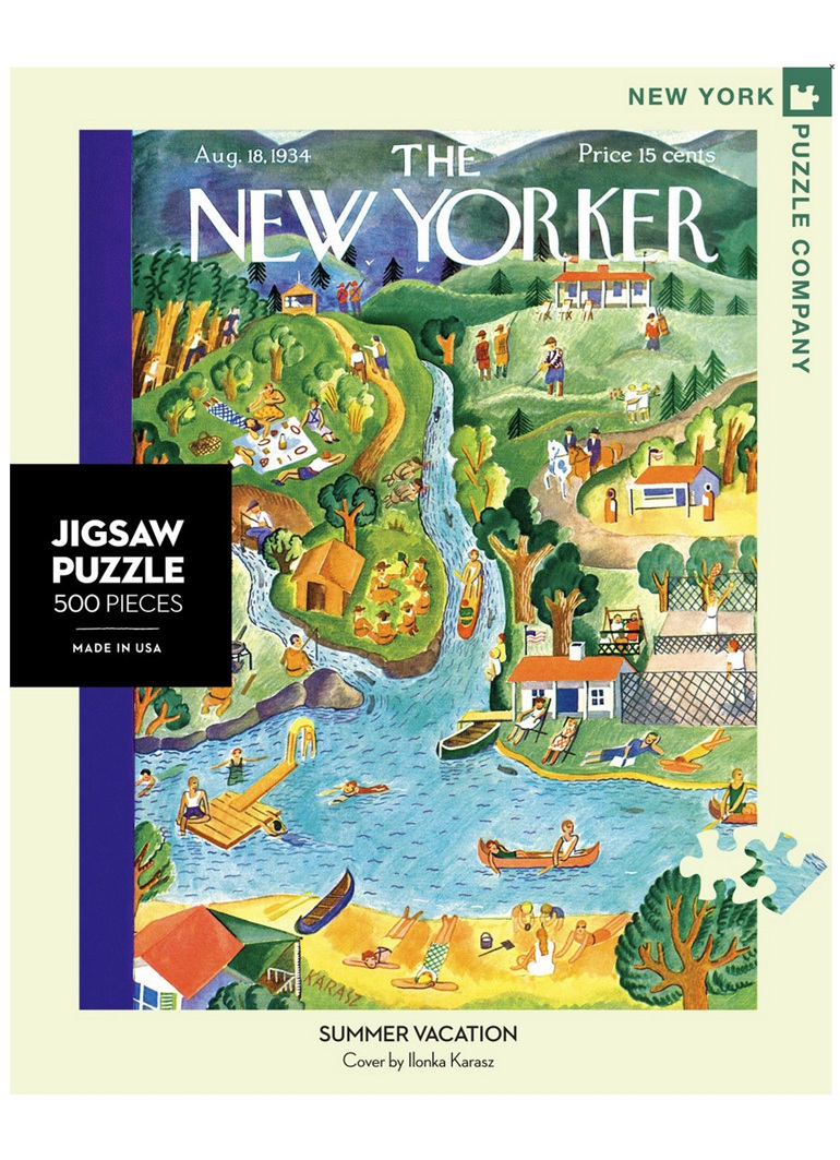 New York Puzzle Company 1000 pce puzzle Summer Vacation at www.puzzlesnz.co.nz