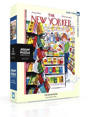 New York Puzzle Company 1000 Piece Jigsaw Puzzle :  The Bookstore