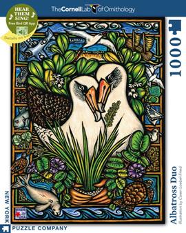 New York Puzzle Company 1000 Piece Jigsaw Puzzle: Albatross Duo