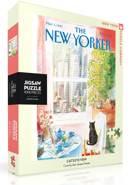 New York Puzzle Company 1000 Piece Jigsaw Puzzle :  Cats Eye View