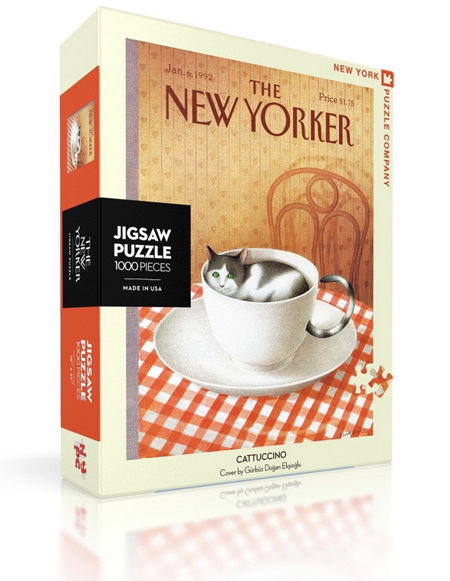 New York Puzzle Company 1000 Piece Jigsaw Puzzle :  Cattuccino