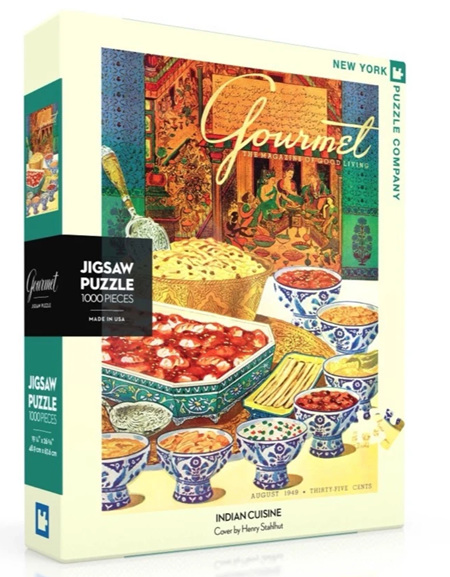 New York Puzzle Company 1000 Piece Jigsaw Puzzle: Indian Cuisine