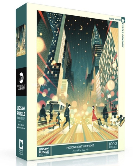 New York Puzzle Company 1000 Piece Jigsaw Puzzle: Moonlight Moment