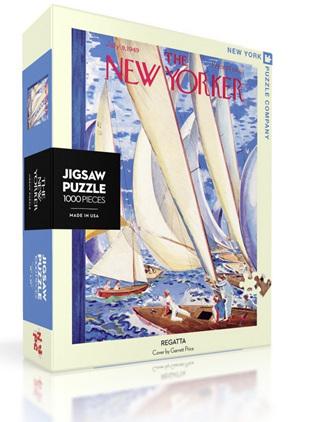 New York Puzzle Company 1000 Piece Jigsaw Puzzle :  Regatta
