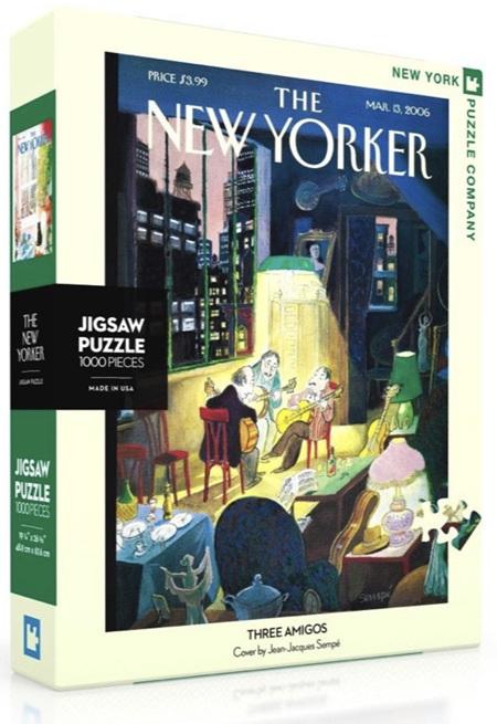 New York Puzzle Company 1000 Piece Jigsaw Puzzle: Three Amigos