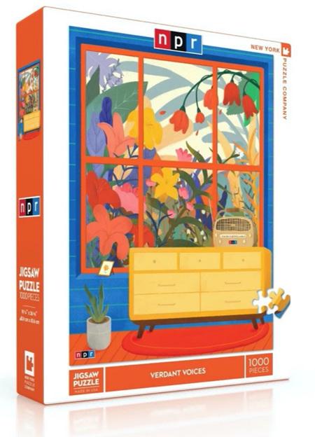 New York Puzzle Company 1000 Piece Jigsaw Puzzle: Verdant Voices