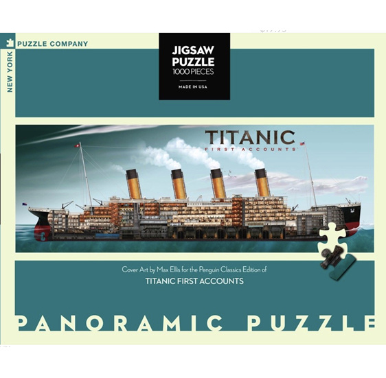 New York Puzzle Company 1000 Piece Panorama Jigsaw Puzzle: TITANIC at PuzzlesNZ