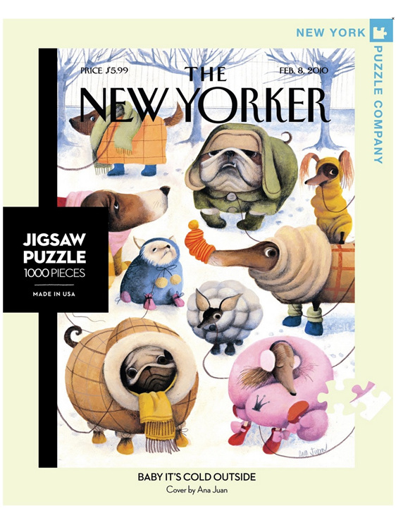 New York Puzzle Company 1000 piece puzzle Baby its Cold at www.puzzlesnz.co.nz