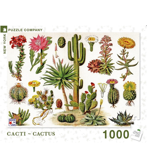 New York Puzzle Company 1000 piece puzzle Cacti buy at www.puzzlesnz.co.nz