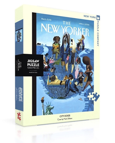 New York Puzzle Company 1000 Piece Jigsaw Puzzle :  City Dogs