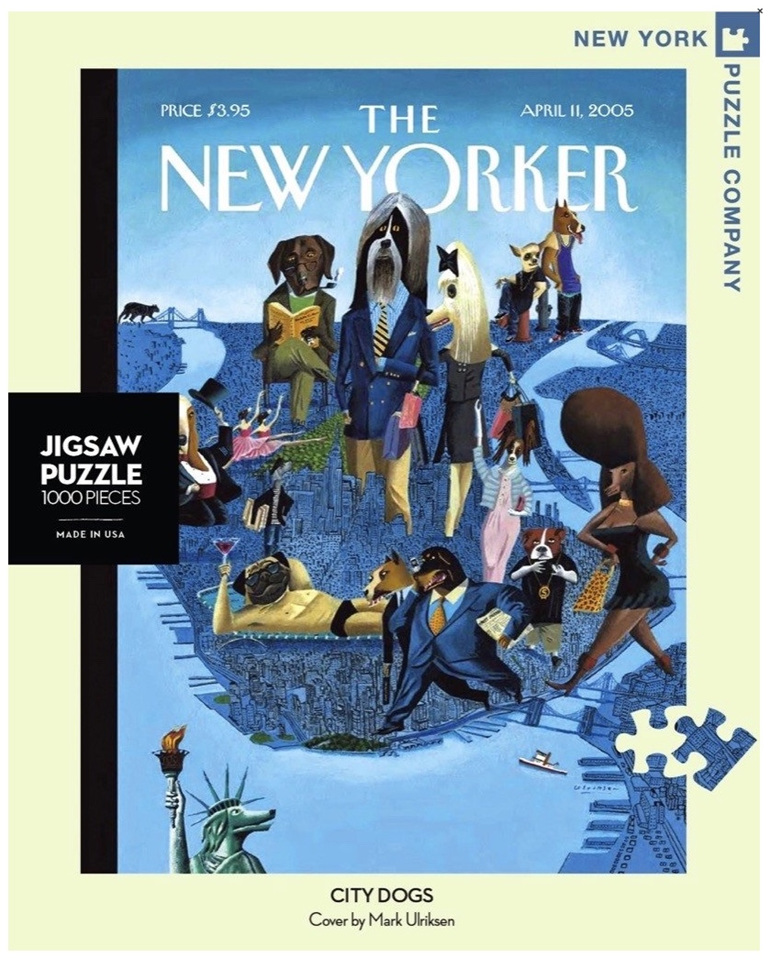 New York Puzzle Company 1000 piece puzzle City Dogs  buy at www.puzzlesnz.co.nz
