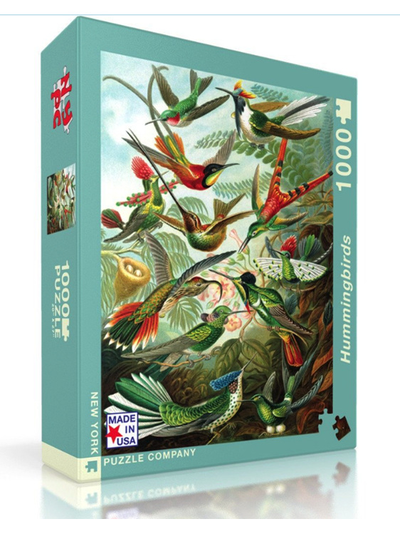 New York Puzzle Company 1000 Piece Puzzle Hummingbirds at www.puzzlesnz.co.nz
