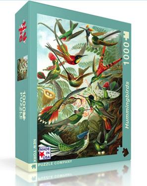 New York Puzzle Company 1000 Piece Jigsaw Puzzle: Hummingbirds