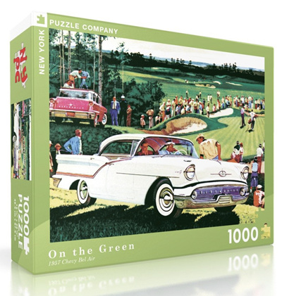 New York Puzzle Company 1000 Piece Jigsaw Puzzle: On The Green - 57 Old's Super 88