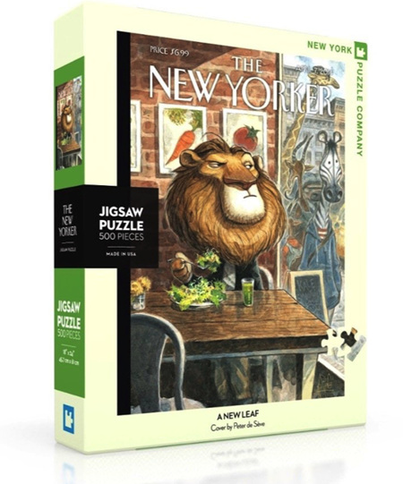 New York Puzzle Company 500 Piece Jigsaw Puzzle:  A New Leaf