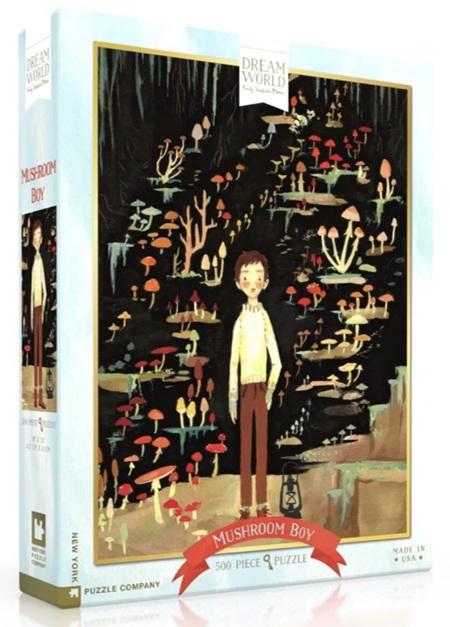 New York Puzzle Company 500 Piece Jigsaw Puzzle: Mushroom Boy
