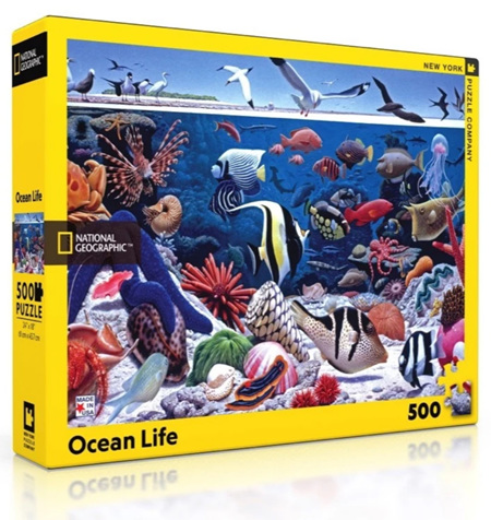 New York Puzzle Company 500 Piece Jigsaw Puzzle: Ocean Life