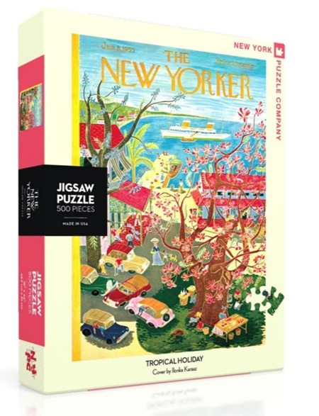 New York Puzzle Company 500 Piece Jigsaw Puzzle: Tropical Holiday