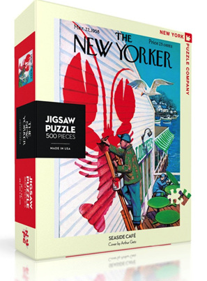 New York Puzzle Company 500 Piece Jigsaw Puzzle: Seaside Cafe