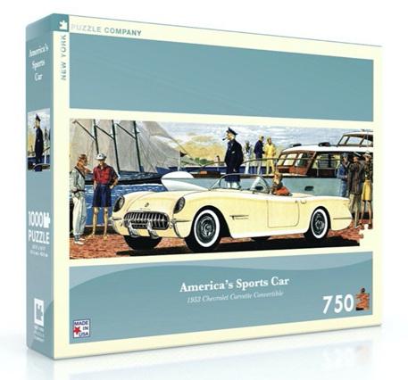 New York Puzzle Company 750 Piece Jigsaw Puzzle: America's Sports Car - '53 Corvette Convertible