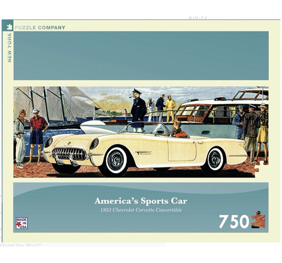 New York Puzzle Company 750 Pce Panorama Puzzle Corvette at www.puzzlesnz.co.nz