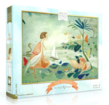 New York Puzzle Company 750 Piece Jigsaw Puzzle: The Garden