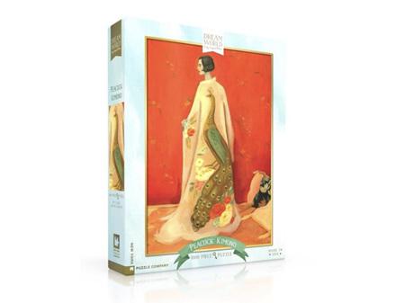 New York Puzzle Company Emily Winfred Martin Dream World 1000 Piece Puzzle Peacock Kimono