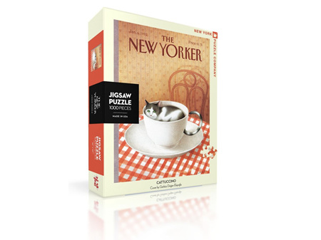 New York Puzzle Company New Yorker Cattuccino 1000 Piece Puzzle