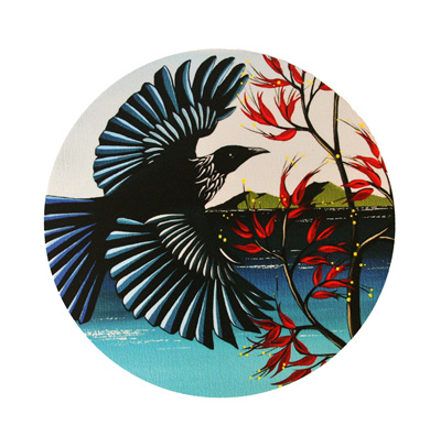 Tui New Zealand Bird Wall Art NZ20