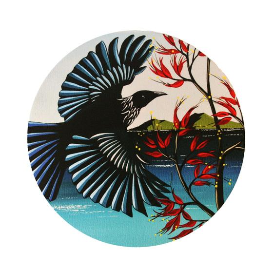 New Zealand Bird Tui by Debbie Morgan.