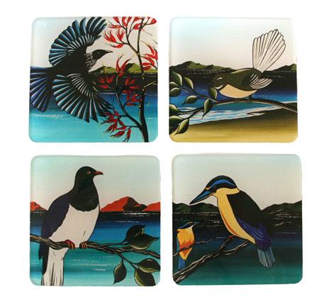 New Zealand Birds Coasters NZ03