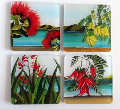 New Zealand flower coasters NZ04