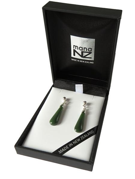 New Zealand greenstone drop earrings (2.2cm) JE205S