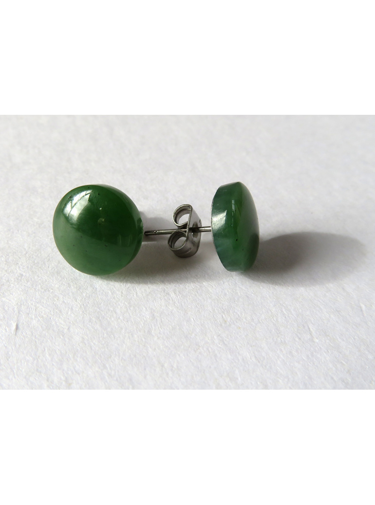 New Zealand greenstone stud earrings