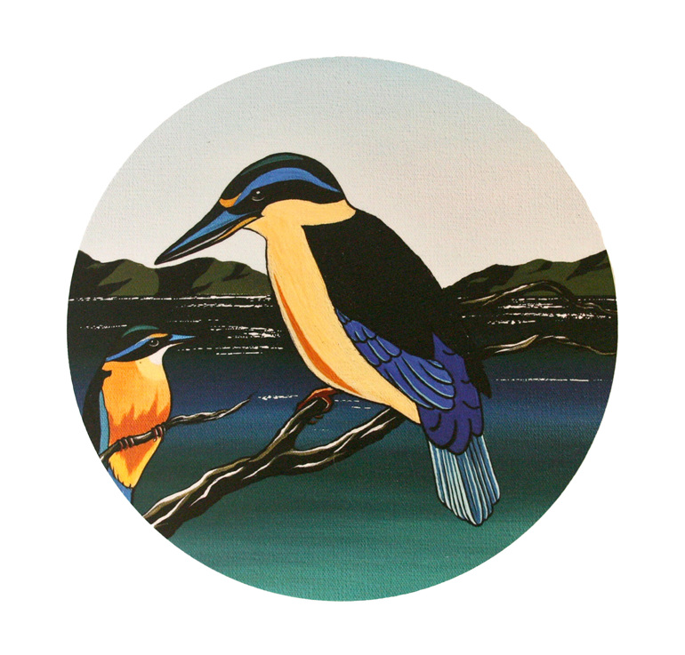 New Zealand Kingfisher wall art.