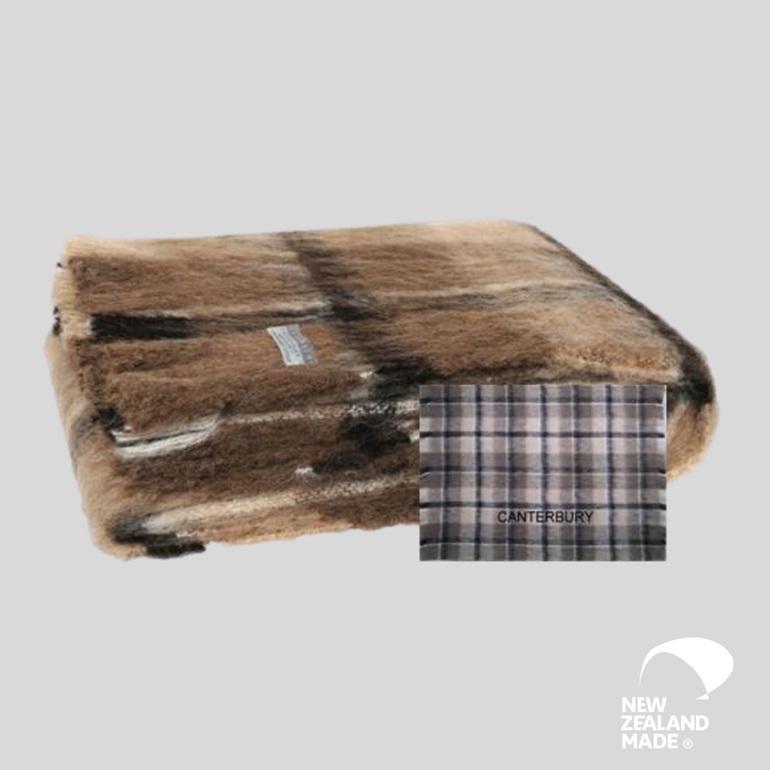 New Zealand Made Alpaca Throw Blanket Canterbury