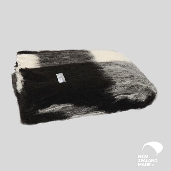New Zealand Made Alpaca Throw Blanket Friesian