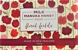 New Zealand-Made Milk Manuka Honey Soap - Floral Fields