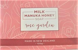 New Zealand-Made Milk Manuka Honey Soap - Rose Garden