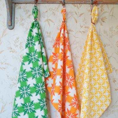 Organic cotton and hemp tea towels by Ali Davies.