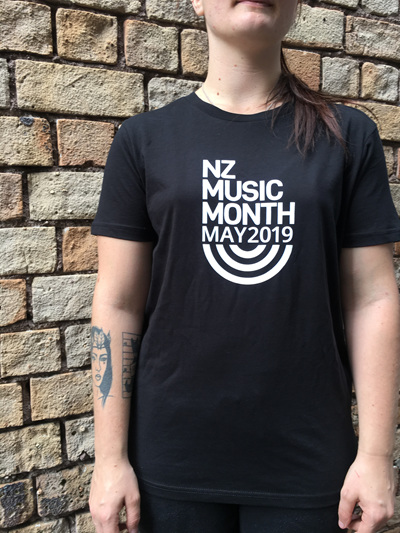 Womens Black NZ Music Month 2019 Tee