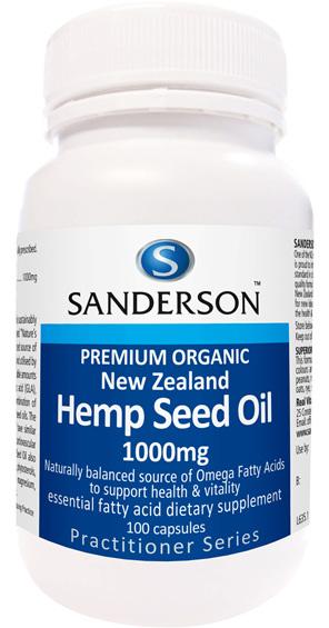 New Zealand Organic Hemp Seed Oil 1000Mg 100 caps