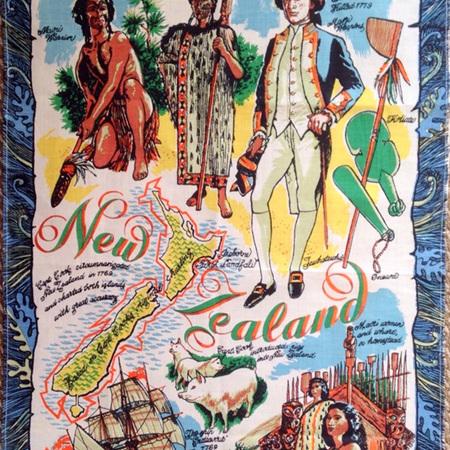 New Zealand Souvenir Tea Towel