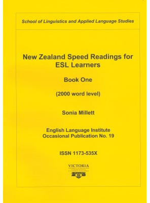 New Zealand Speed Reading for ESL Learners Book One