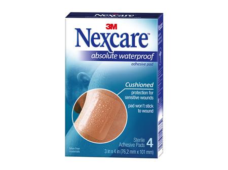 Nexcare Absolute Waterproof 7.2 x 10cm 4 Pads