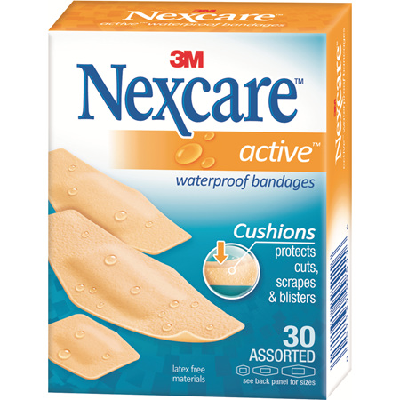 Nexcare Active Bndges W/Proof Asstd 30