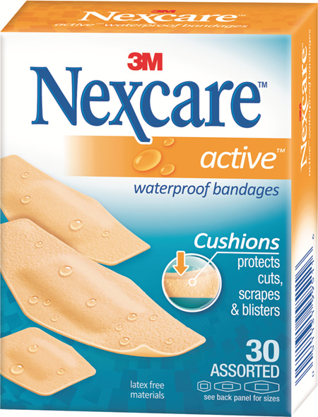 Nexcare Active Bndges W/Proof Asstd 30